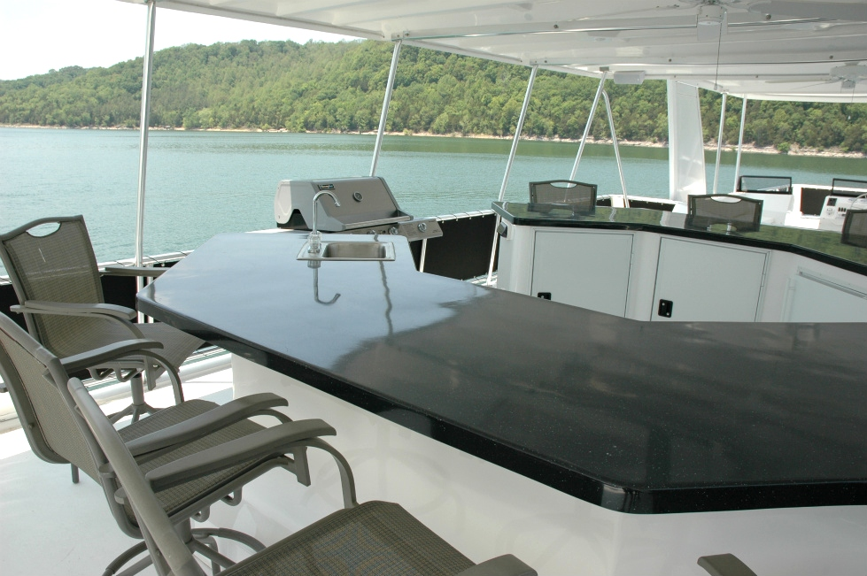 Bars, Outdoor Kitchens and Bar Height Tables  Houseboat Refurbishing